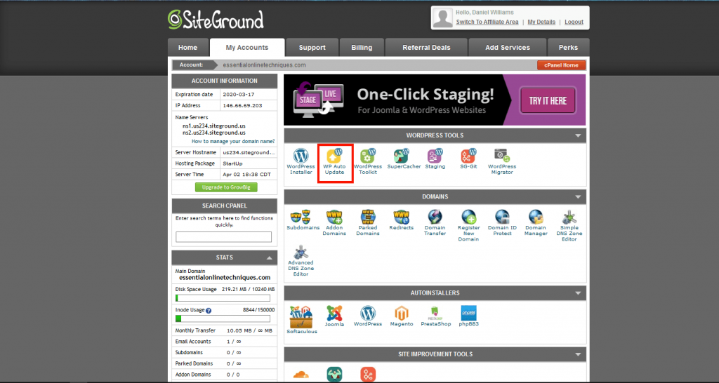 Siteground managed hosting solution