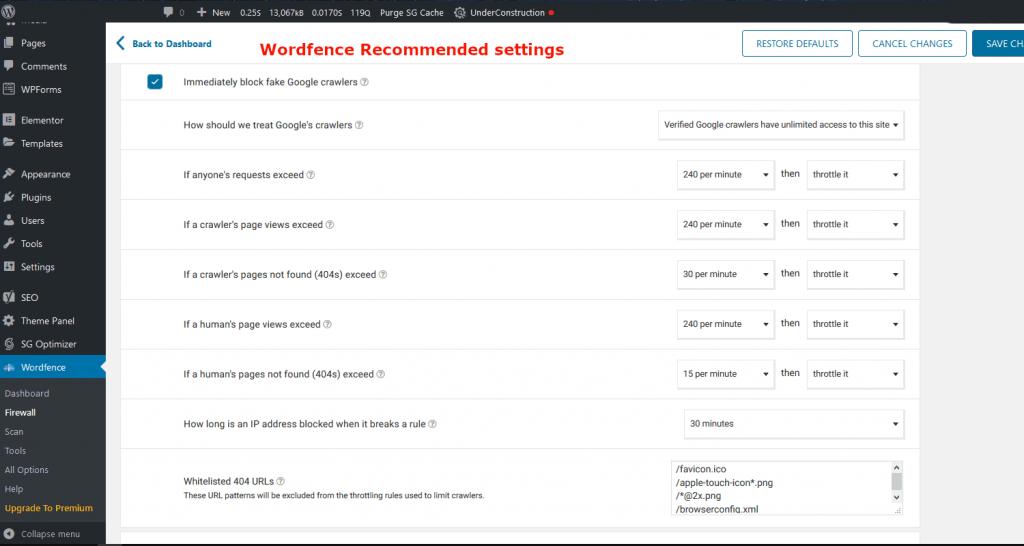 Speed up wordpress dashboard