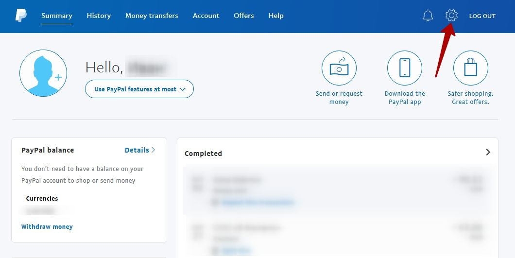 PayPal Dashboard