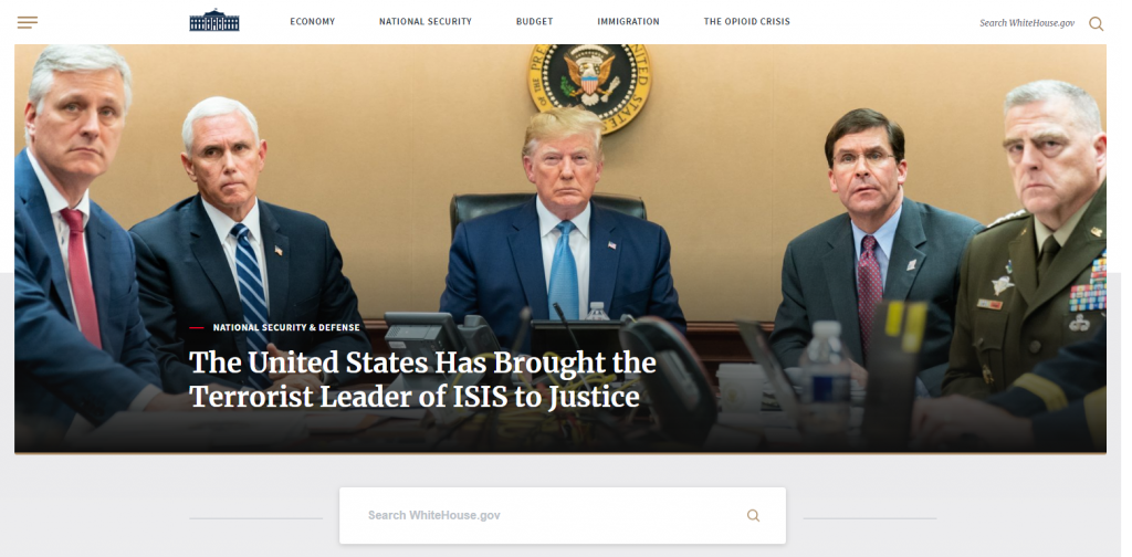 whitehouse uses wordpress