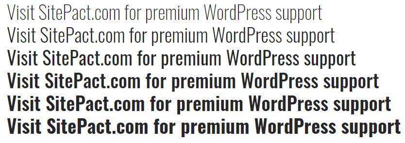 Oswald Sans Serif font