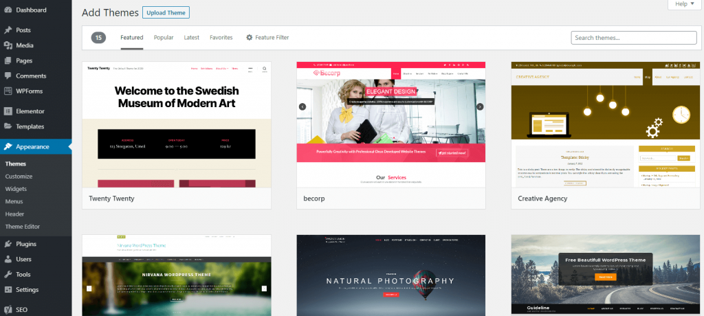 20 best wordpress themes for 2020 featured image