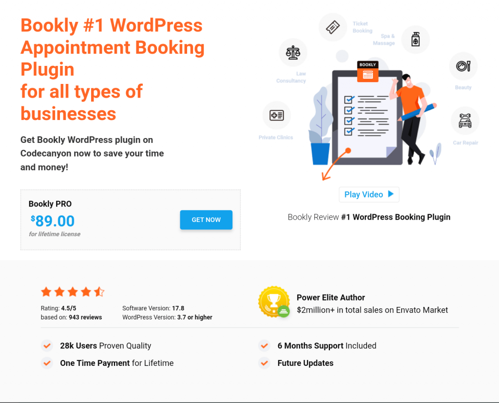 Bookly pro wordpress appointment booking plugin for all types of businesses