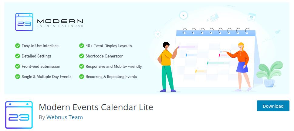 modern events calendar lite calendar plugin
