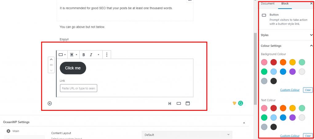 Adding buttons in Gutenberg WordPress editor